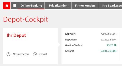 Online-Banking-Tipp: Depot-Cockpit